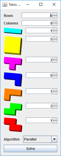 tetris puzzle solver federico dossena