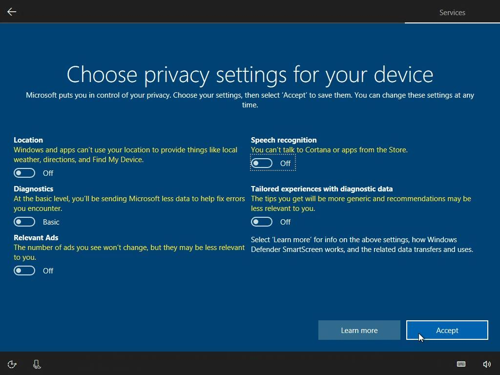 Windows 10 Privacy Guide - Creators Update - Federico Dossena